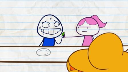 逗趣铅笔人: 铅笔人吃辣椒作弊被女友发现, 悲剧了!