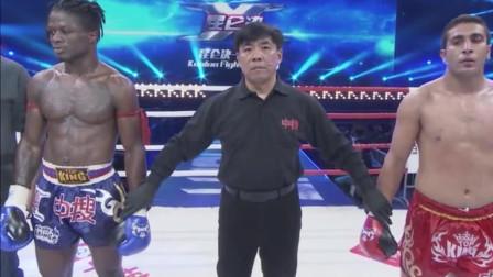 黑人拳手被东欧拳王一拳KO, 生气后秒杀对手不解释