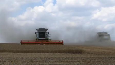 大型农场专用联合收割机, 工作速度快, 省时省力