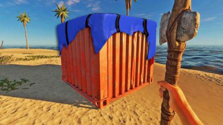 终于回棕榈岛,我发现多了一个装有物资的空投箱