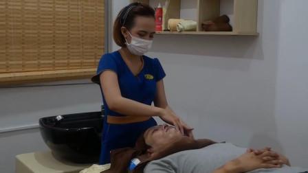 著名的越南刮胡服务, 手法娴熟, 非常舒适