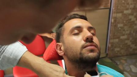 土耳其理发店专业刮胡, 手法精致, 非常舒服