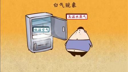 """打开冰箱的冷藏室的时候为什么冒""""白气""""?"""