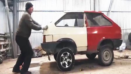 汽车改装: 将两个车尾连在一起是什么场景