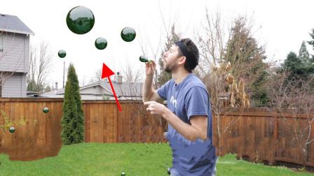 国外大神是如何吹出黑色泡泡的 放到真空里会如何