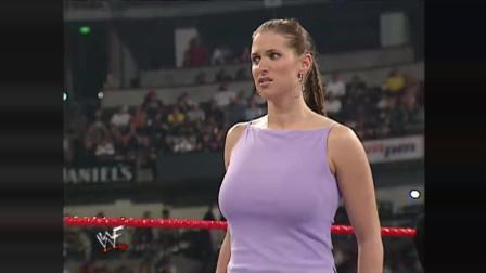 WWE老板的亿万富翁白富美竟当众受辱! 斯黛芬妮都快气疯了