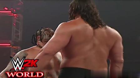 WWE巨兽对决, 就这体重撞过来好似被车撞飞