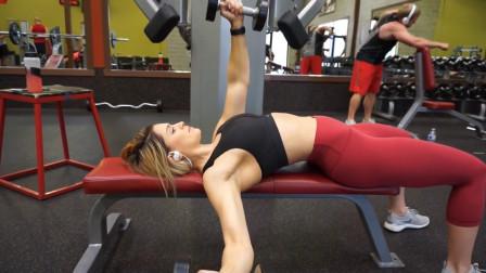 上肢锻炼第19部分, 健身美女Whitney Simmons练出迷人手臂曲线的健身运动