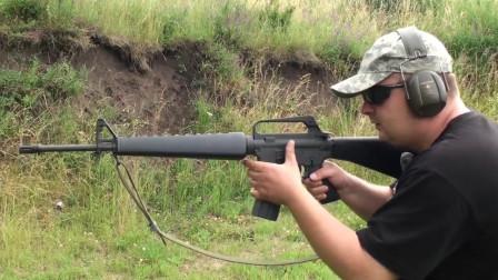 M16A1射击测试, 在大叔手里跟玩具一样