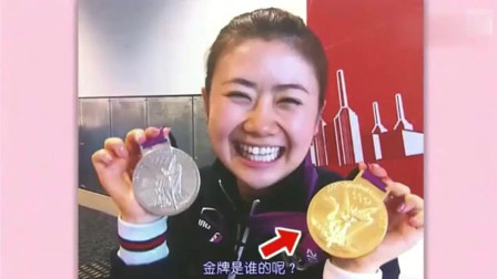 福原爱输球后, 竟去找中国队借来金牌, 自拍起来!