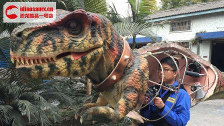 恐龙服装操控演示-半身恐龙套装