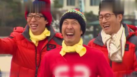 RM: HAHA真是太大胆了, 竟敢绊女嘉宾的腿, 不怕被群殴吗!