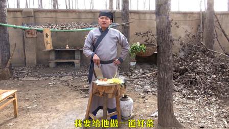 父亲生日儿子给他做了一道菜, 做法虽简单, 却是儿子的一点心意