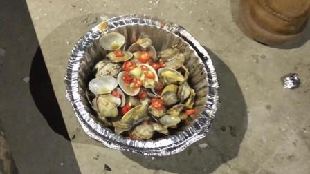 烧烤 锡纸花蛤