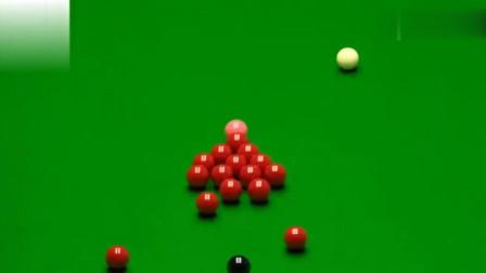"""台面15颗红球全在, 丁俊""""开杆一杆斯诺克竟让对手罚掉天26分"""