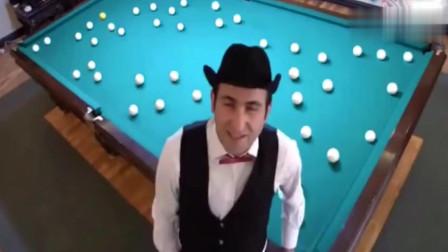 世界上最牛的花式桌球大师, 这个视频你绝对看过, 真的太完美了!