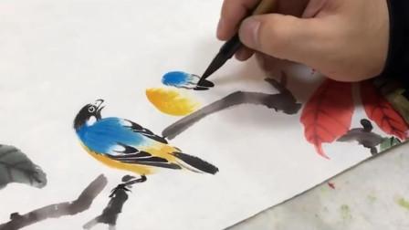 技大不压身,多学习两招花鸟画技巧