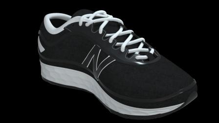 很酷的球鞋运动广告,C4D太强大了