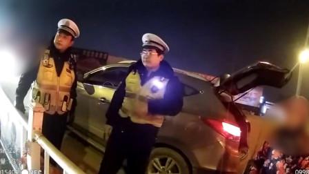 湖北武汉:司机冲岗弃车只为上厕所?原是无证毒驾逃跑!