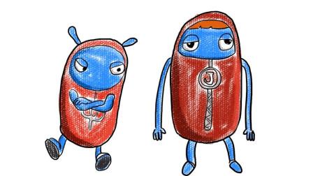 杰力豆动画中的杰力果果和杰力果果乔乔