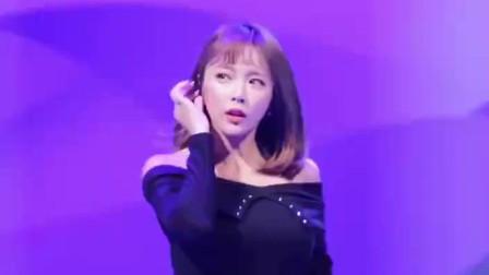 韩国女明星洪真英,舞台现场热舞,最后撒娇卖萌太可爱!