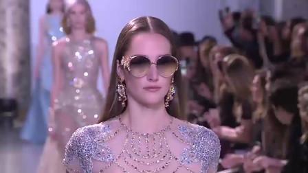 精致半透明薄纱蕾丝时装秀,超美模特性感、气质溢屏