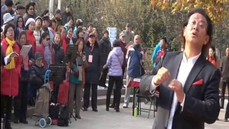 指挥艺术欣赏 李永康41 北京颂歌 雁南飞 健康之声合唱团 马甸181201