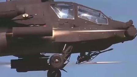这才是空战大片,阿帕奇直升机绝地反击,十分震撼精彩