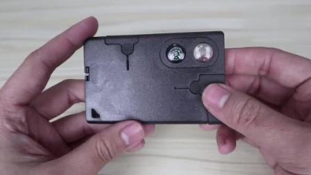 开箱评测多功能军刀卡,你能看出这张卡片有多少功能吗?