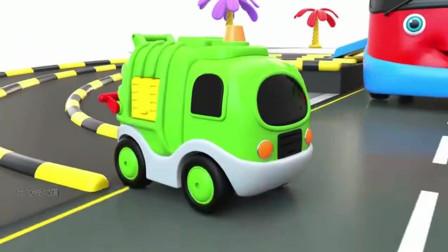 大力说动画:汽车消防车警车学英语学颜色动画卡通片  第五十四集