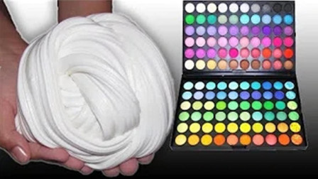 【喵博搬运】【异常满足系列】把100种颜色眼影放到史莱姆,最后的颜色非常美(°ー°〃)