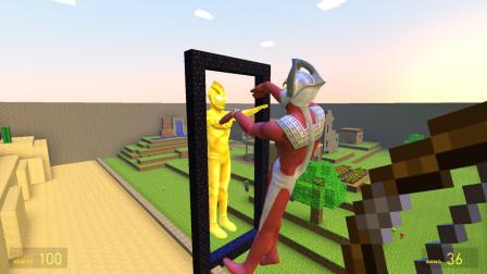 我的世界 泰罗奥特曼用魔镜看到了自己的闪耀形态