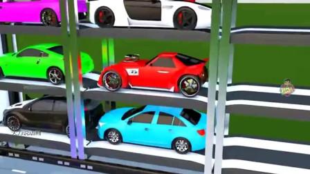 大力说动画:工程车学颜色学英语动画  第五十七集