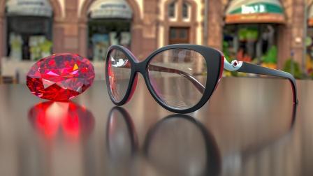 C4D眼镜建模渲染教程
