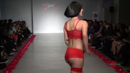 迈阿密时装周 Maternity 泳装秀,短发模特,转身好从容!