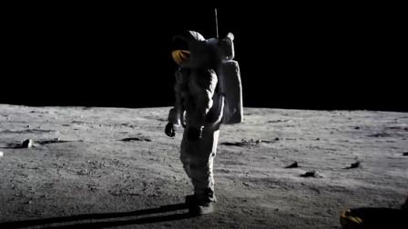 男子第一个登上月球,却不插上国旗,看完让人感动不已