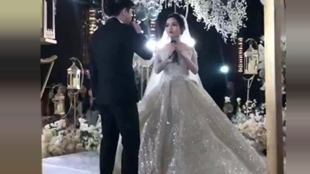 原以为新娘唱歌够好听了,当新郎开口的那一刻,网友:被惊艳了!