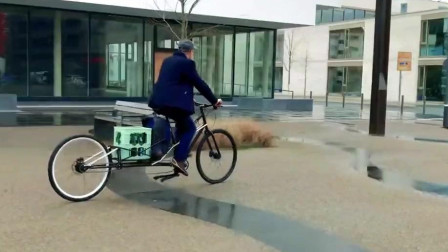 能拉长的自行车,展开秒变货架,承重120斤,下班买菜太方便
