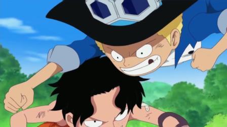 艾斯小时候真强, 路飞和萨博都不是他的对手