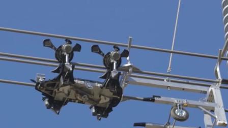 老外造高压电线巡检机器人,用来代替人工,全天候工作效率更高