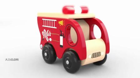 大力说动画:汽车垃圾车工程车学英语学颜色动画卡通片 第五十九集