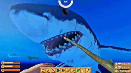 我成功拿下一头鲨鱼,获得战利品