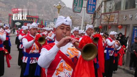 陕西绥德:绥德汉唢呐团,百人唢呐团!