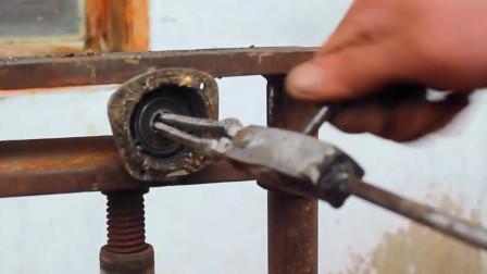 牛人设计一款小工具,恕我直言,再也不怕轴承取不下来了