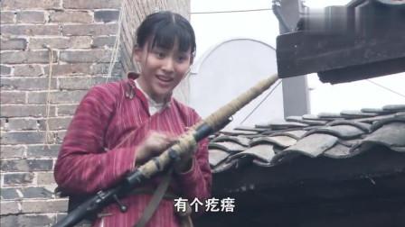 小姑娘第一次用狙击枪,八倍镜都不会开,对准鬼子机枪手一枪爆头