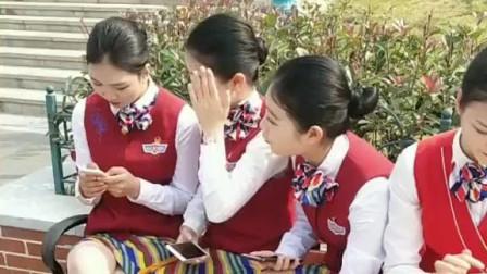 我们空乘学院的四姐妹,精致的五官,完全挑不出毛病!
