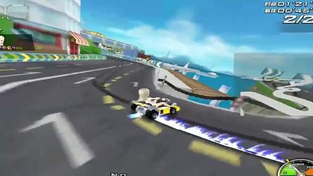 QQ飞车改装的班车有多强,海滨小镇1.29.29快赛道之王一秒
