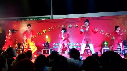 宁晋县素邱三村庙会大型歌舞 《 对棚夜场 》 2