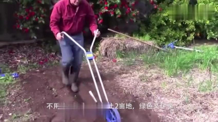 农村牛人小哥发明高效松土机,一天松土亩地,成本不到元