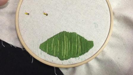 欧式刺绣:一片玫瑰园!超简单的针法组合,超好看的玫瑰立体刺绣(上)
